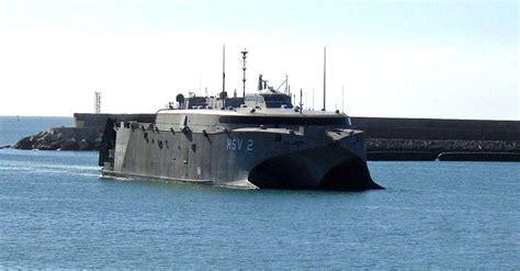 catamaran military ship hsv 2 swift the navy s proof of concept catamaran