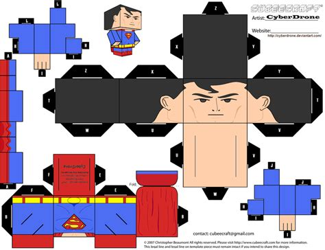 Superman Papercraft - cubee superman justice league by cyberdrone on deviantart