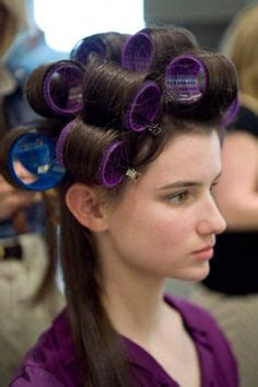 how to section hair for hot rollers 1000 images about curl hair with rollers on pinterest