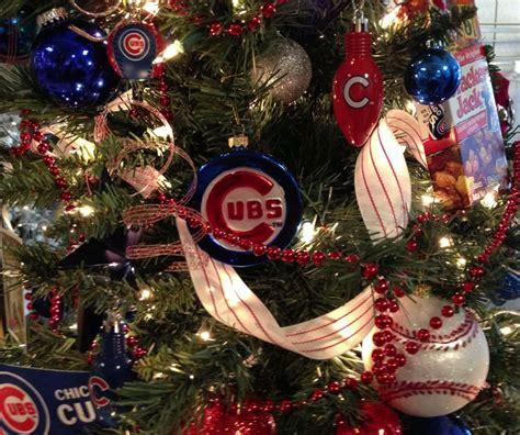 christmas tree lots chicago chicago cubs tree by ribbonista farrar white may arts ribbon trees