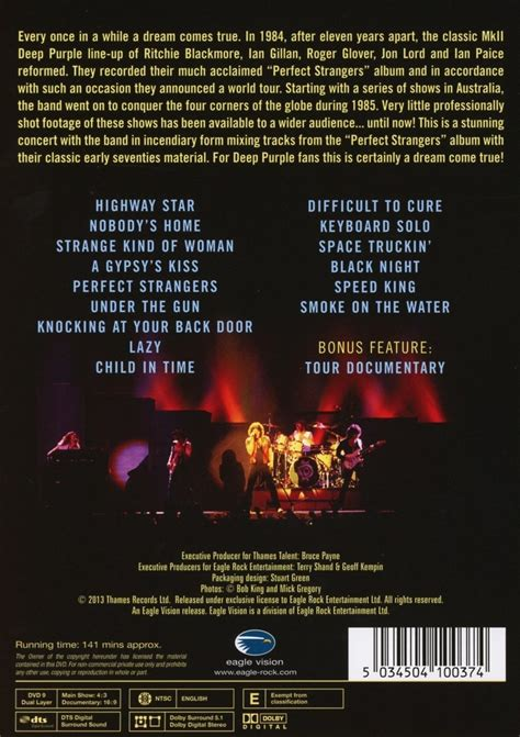 deep purple plays perfect strangers live in japan deep purple perfect strangers live dvd dvd forum at