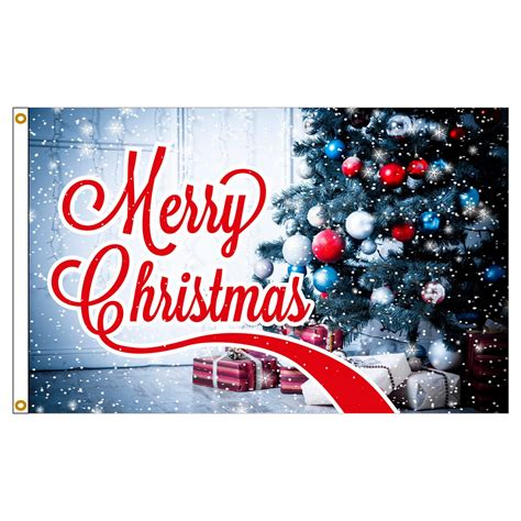3ft x 5ft decorative flag merry christmas