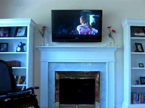 where to put tv plasma tv mounted fireplace