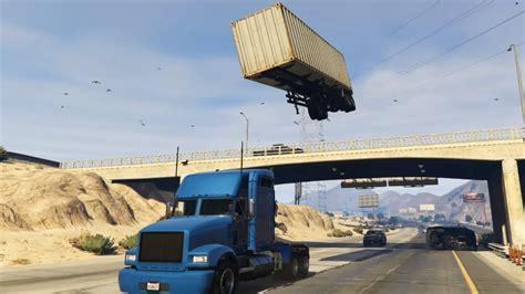truck stunt gta v semi trailer truck stunt