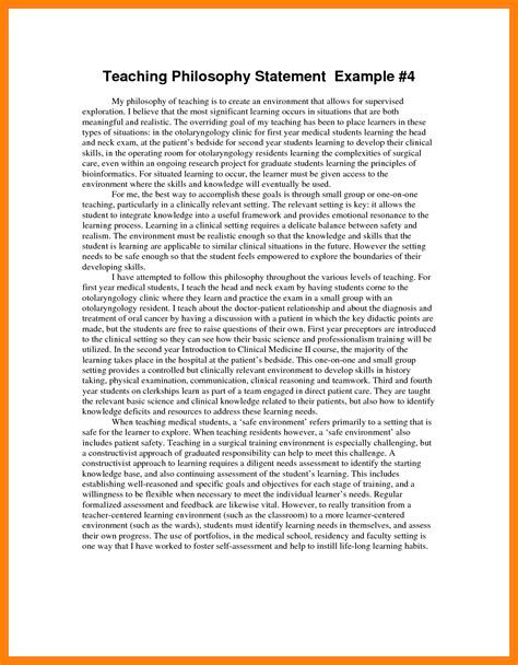 Sample Resume For Cosmetology Student by 8 Example Of Teaching Philosophy Nurse Homed