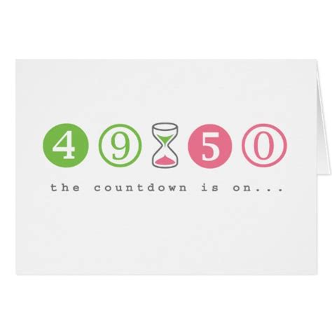 Turning 50 Years Old Greeting Card   Zazzle