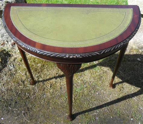 leather console table small leather top mahogany console table