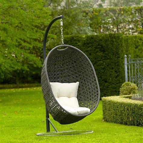 pod swing chair bramblecrest rio rattan cocoon garden swing seat pod chair