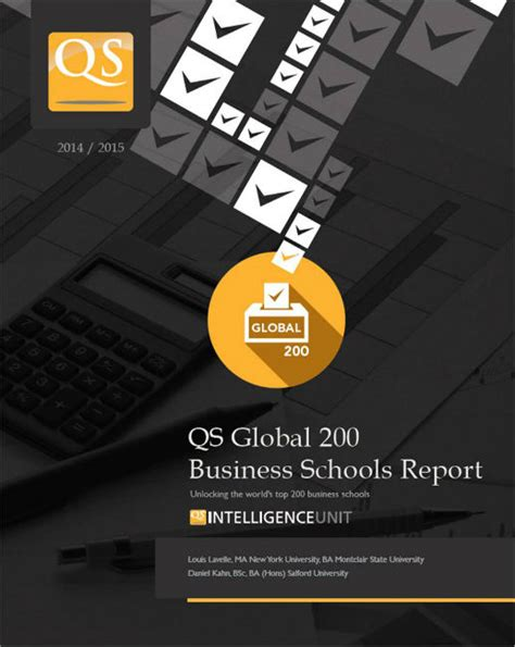 Qs Mba Rankings by Qs Intelligence Unit Qs Global 200 Business Schools