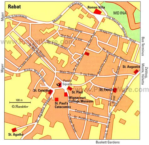 printable road map of malta 17 top rated tourist attractions in malta planetware