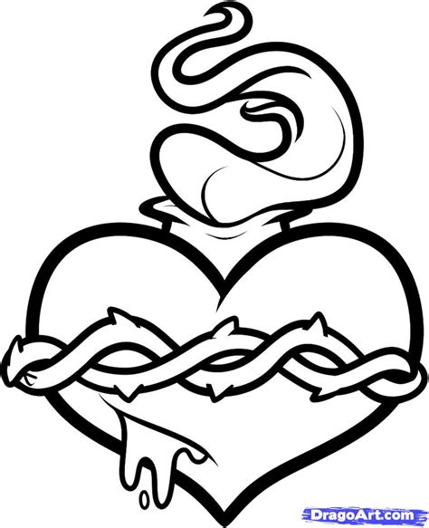 of hearts with flames free coloring pages on art