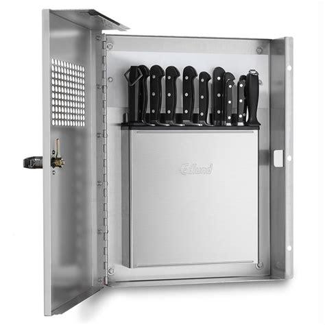 cutlery cabinet edlund klc994 knife cabinet keyed locking handle front
