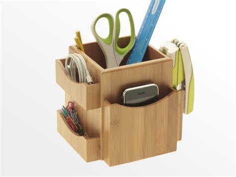 Office Desk Tidy Revolving Desk Tidy Bamboo Office Supplies