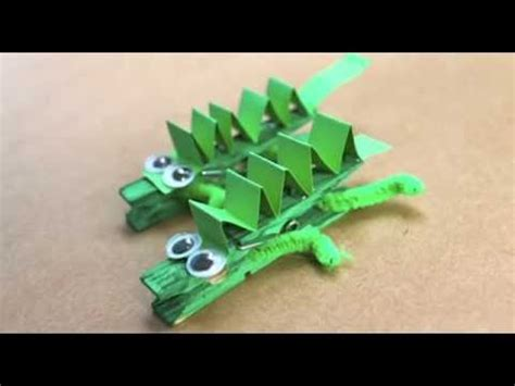 How To Make Crocodile With Paper - how to make a peg crocodile
