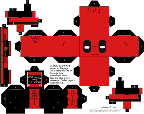 Minecraft Papercraft Deadpool - papercraft papercraft deadpool new on the