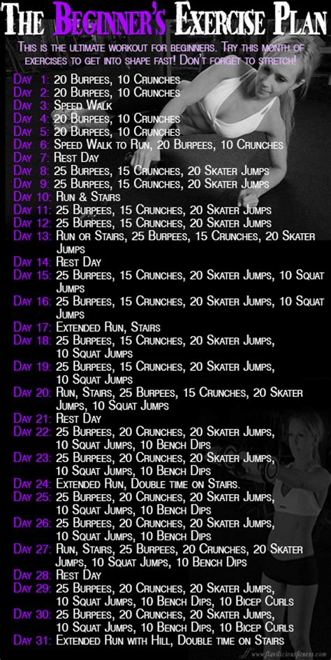 work out plan at home workout wednesday the beginner s exercise plan
