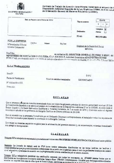 contrato del ministerio de educacion venezuela equipo nizkor mec modelo de contrato de trabajo de