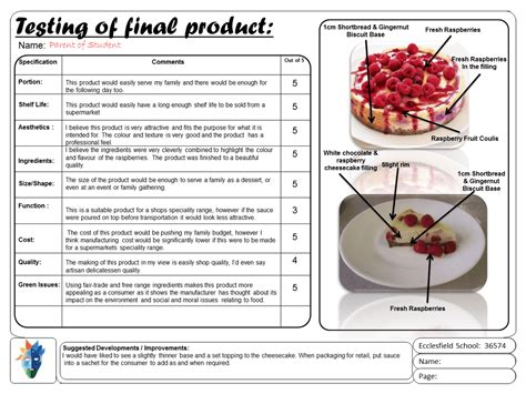 gcse food technology controlled assessment gcse food technology controlled assessment