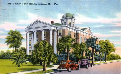 Bay County Court Records Florida Memory Bay County Courthouse Panama City Florida