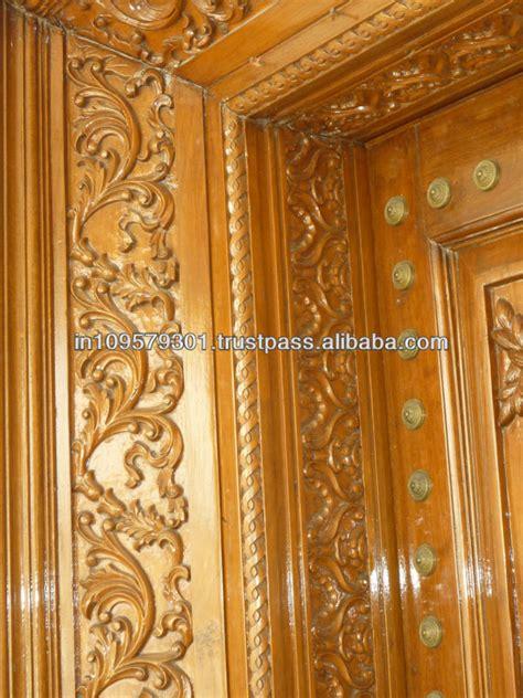 Door Frame Carving Designs by Solid Teak Wood Enterance Door With Carving Buy