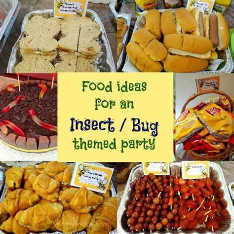 Winners Home Decor food ideas for an insect or bug themed party mommy snippets