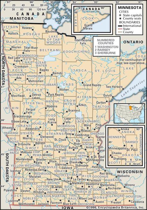 map of minnesota state and county maps of minnesota