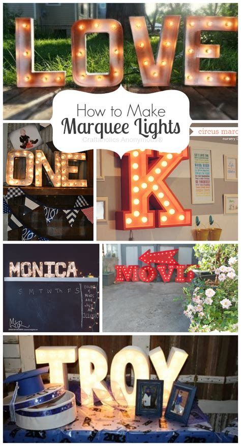 craftaholics anonymous 174 how to make marquee lights