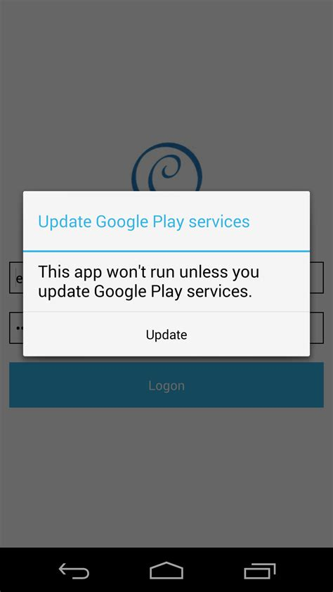 update android android always getting message update play service while check play service in