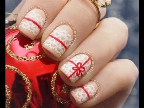 imagenes de uñas decoradas 2015 de navidad u 241 as para navidad 2014 u 241 as decoradas con esmalte youtube