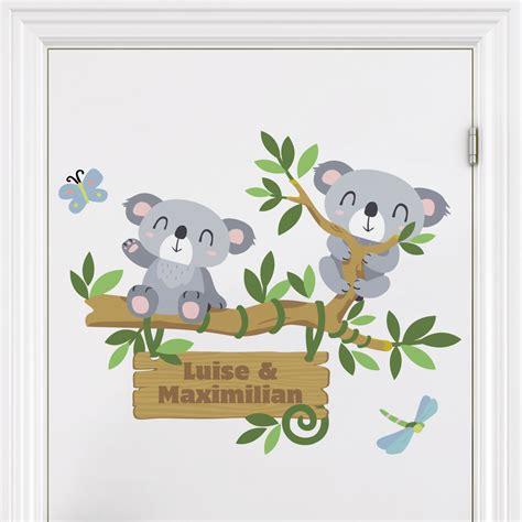 Wandtattoo Kinderzimmer Koala by Wandtattoo Namen Kinderzimmer Koala Baum Wunschtext