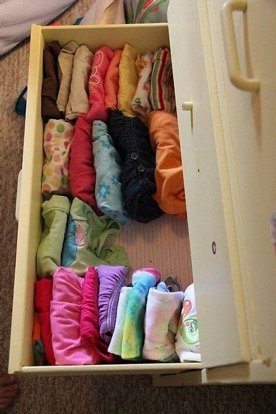 Clothes Drawer File Clothes Vertically In Your Drawers So Yo Can See Them