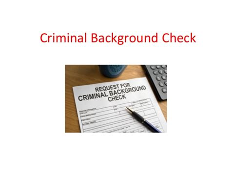 Response For Criminal Record Check Criminal Background Check Criminal Record Check