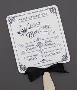 paddle fan wedding program template diy ornate vintage paddle fan wedding program template