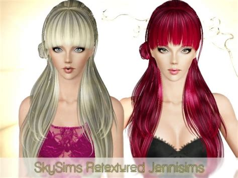 long hair with bangs sims2 the sims 3 super shiny with giant bangs hairstyle skysims