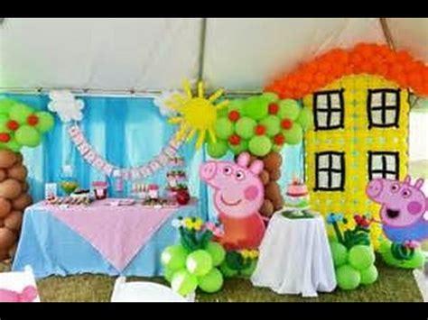 peppa pig fiesta de 8448836464 ideas con globos para fiesta de peppa pig