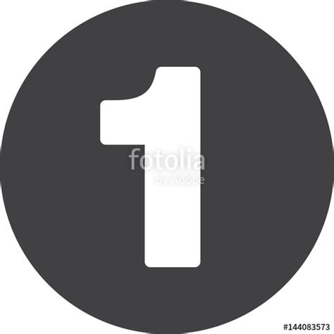 Number 1 Search Quot Number 1 Flat Icon Circular Sign Button One Quot Stock Image And Royalty Free