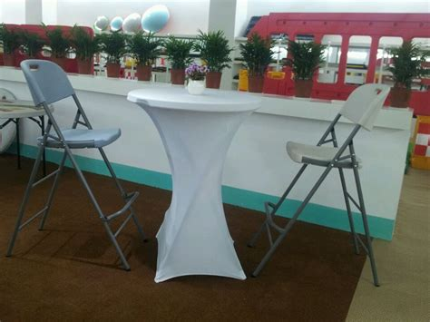 80cm outdoor hdpe plastic high top bar tables