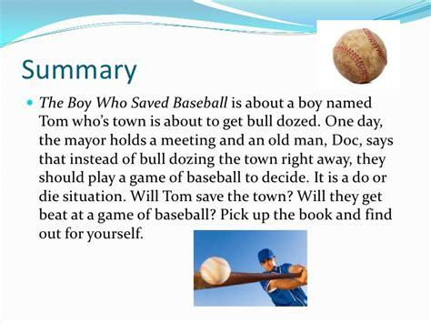 the who saved brdecka the boy who saved baseball