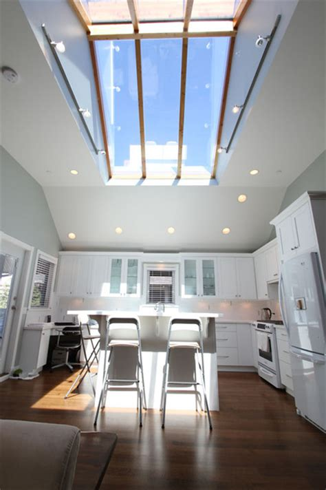 Light Green Kitchens - kitchen with skylight traditional kitchen vancouver by my house design build team