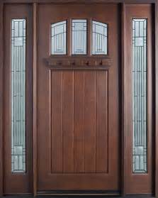 entry door in stock single with 2 sidelites solid wood