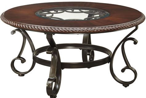 furniture cocktail table gambrey reddish brown cocktail table from