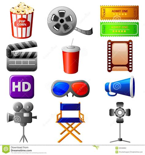 Icon Cinema Gift Card - cinema icon stock photography image 26346862