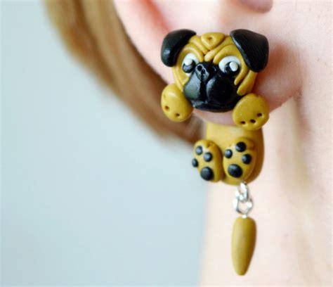 pug earings artist creates sided animal earings bored panda