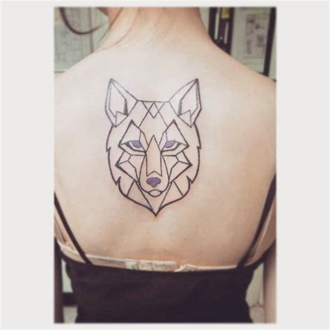 geometric wolf tattoo geometric wolf by indiavaughn on deviantart
