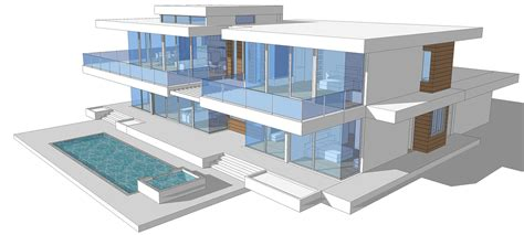 modern glass house floor plans buy our 2 level modern glass home 3d floor plan next
