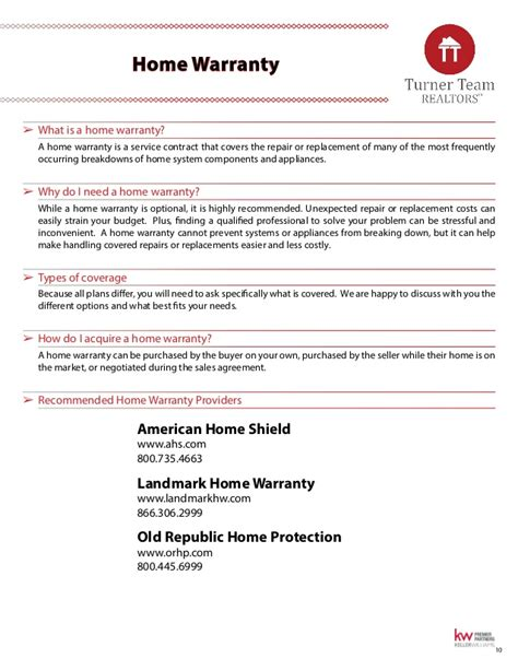 turner team inc washington buyer s real estate guide