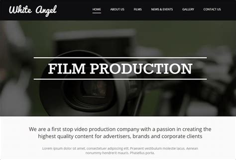 website templates for video production company motocms presents best selling website templates of 2014