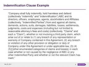 indemnification clause template indemnification an overview and trends in m a