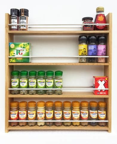 Spice Rack Large Capacity Handcrafted Solid Wood Spice And Herb Racks Silverapplewood