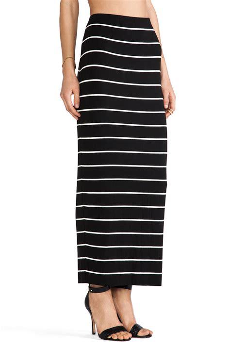 Big Stripe Skirt bailey 44 masakela skirt in big stripe black revolve